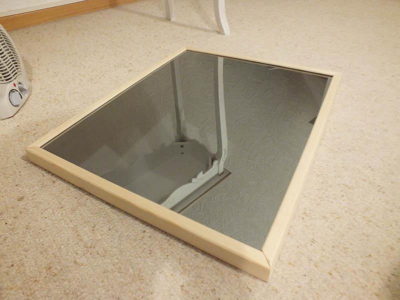 DIY Rahmen für Spiegel Glas